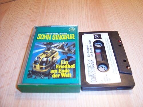 John Sinclair Hörspiel MC 018 18 Ein Friedhof am Ende der Welt 2 /3 Tonstudio Braun 1. schwarz-weiß