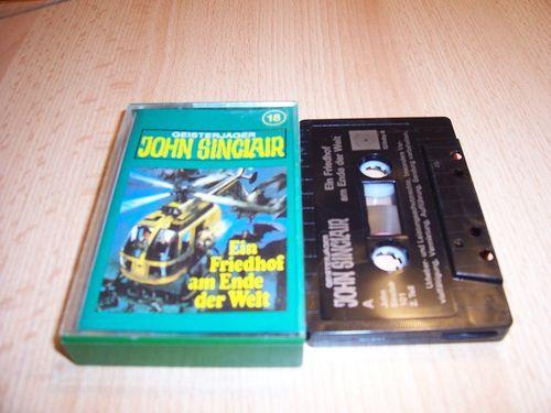 John Sinclair Hörspiel MC 018 18 Ein Friedhof am Ende der Welt 2 /3 Tonstudio Braun 2. schwarz Atom