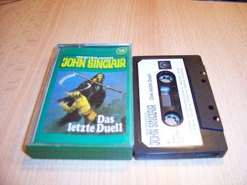 John Sinclair Hörspiel MC 019 19 Das letzte Duell Teil 3 von 3 3/3 Tonstudio Braun 1. schwarz-weiß