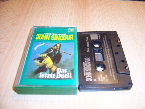 John Sinclair Hörspiel MC 019 19 Das letzte Duell Teil 3 von 3 3/3 Tonstudio Braun 2. schwarz Atom