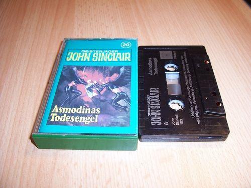 John Sinclair Hörspiel MC 020 20 Asmodinas Todesengel Tonstudio Braun 2. schwarz Atom gebr.