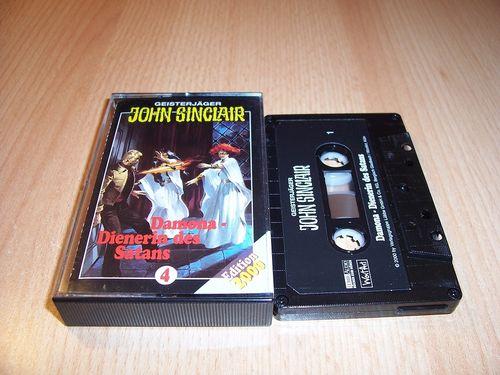 John Sinclair Hörspiel MC 004 4 Damona, Dienerin des Satans von SPV Edition 2000 schwarz gebr.