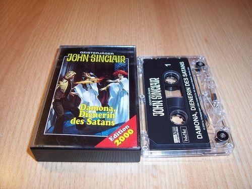 John Sinclair Hörspiel MC 004 4 Damona, Dienerin des Satans von SPV Edition 2000 transparent gebr.