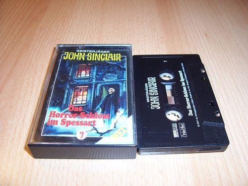 John Sinclair Hörspiel MC 007 7 Das Horror-Schloss im Spessart von SPV Edition 2000 schwarz gebr.