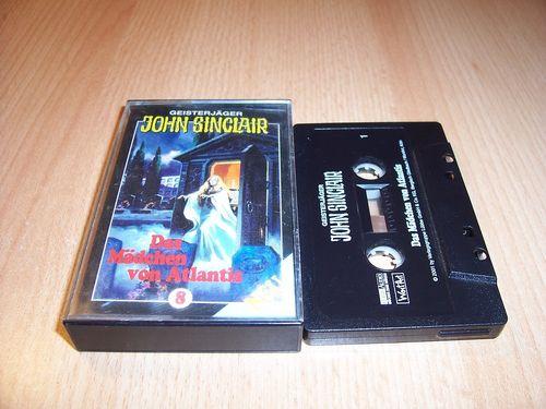 John Sinclair Hörspiel MC 008 8 Das Mädchen von Atlantis Teil 1 von 2 SPV Edition 2000 schwarz gebr.