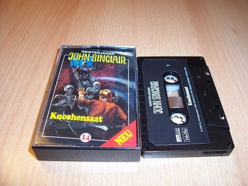 John Sinclair Hörspiel MC 014 14 Die Knochensaat von SPV Edition 2000 schwarz gebr.