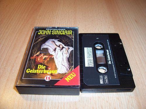 John Sinclair Hörspiel MC 015 15 Die Geister-Braut von SPV Edition 2000 schwarz gebr.