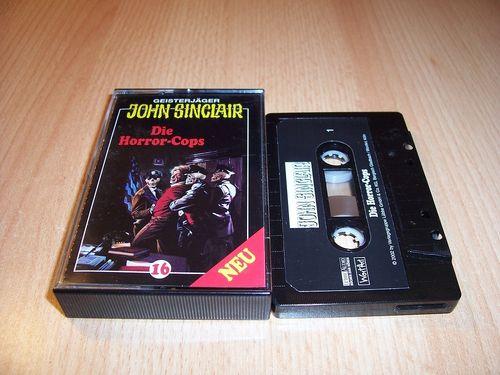 John Sinclair Hörspiel MC 016 16 Die Horror-Cops Teil 1 von 3 1/3 von SPV Edition 2000 schwarz gebr.