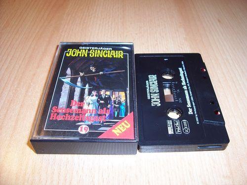 John Sinclair Hörspiel MC 019 19 Der Sensemann als Hochzeitsgast von SPV Edition 2000 schwarz gebr.