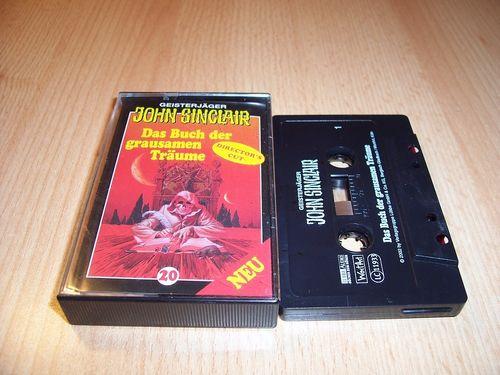 John Sinclair Hörspiel MC 020 20 Das Buch der grausamen Träume von SPV Edition 2000 schwarz gebr.