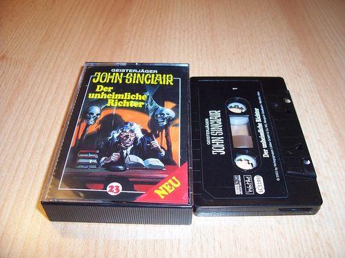 John Sinclair Hörspiel MC 023 23 Der unheimliche Richter  von SPV Edition 2000 schwarz gebr.