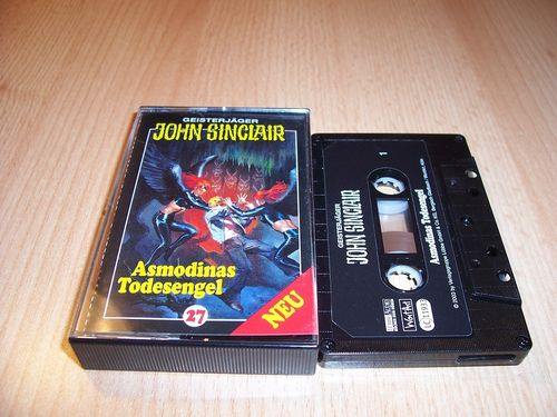 John Sinclair Hörspiel MC 027 27 Asmodinas Todesengel von SPV Edition 2000 schwarz gebr.