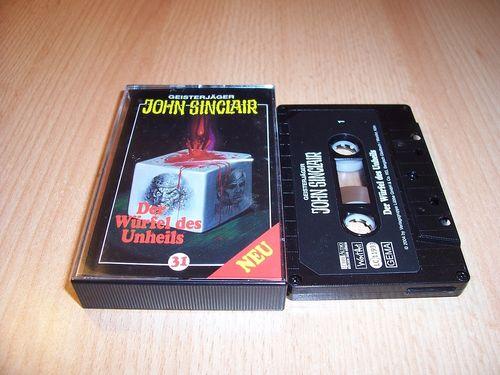 John Sinclair Hörspiel MC 031 31 Der Würfel des Unheils von SPV Edition 2000 schwarz gebr.