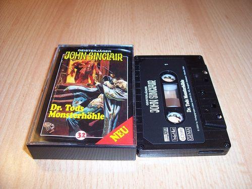 John Sinclair Hörspiel MC 032 32 Dr. Tods Monsterhöhle von SPV Edition 2000 schwarz gebr.