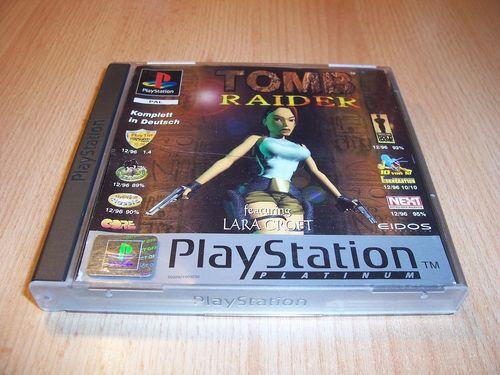 PlayStation 1 PS1 Spiel - Tomb Raider 1 I - Platinum   PSone PSX USK 16 - komplett + Anleitung gebr.