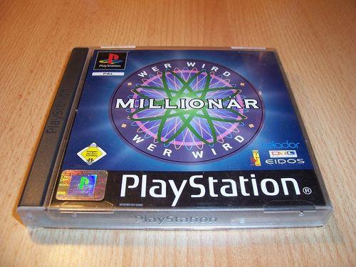 PlayStation 1 PS1 Spiel - Wer wird Millionär 1 WWM RTL PSone PSX USK 0 - komplett + Anleitung gebr.