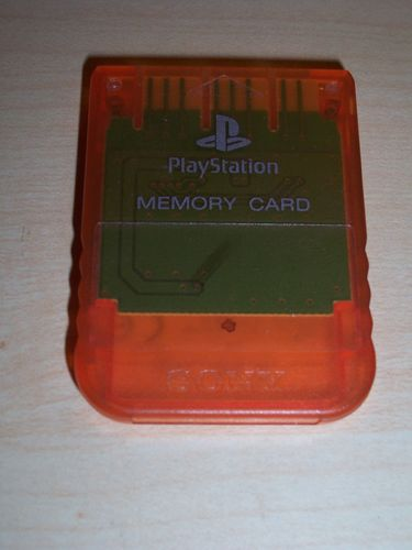 PlayStation 1 PS1 - 1x Memory Card 1MB 1 MB Speicherkarte Original Sony Orange SCPH-1020 PSX PSone